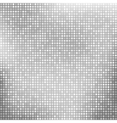 Abstract silver background with tiny squares vector