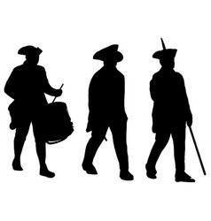 American revolution soldiers marching vector