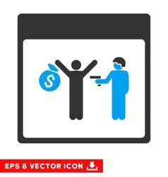 Arrest Calendar Page Eps Icon vector image