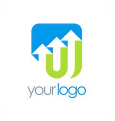 arrow up company logo vector image