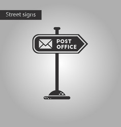 Black and white style icon sign post office vector