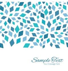 Blue mosaic texture horizontal border card vector
