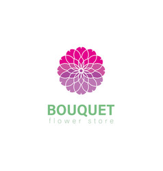 bouquet abstract floral logo elegant style vector image