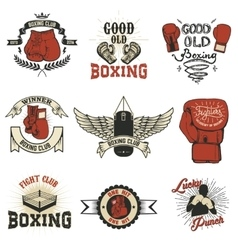 Boxing Boxing club labels on grunge background T vector