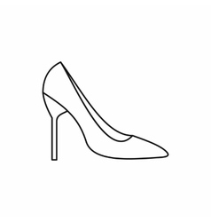 Bride shoes icon outline style vector