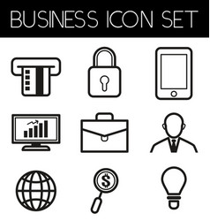 business line icon3 vector image