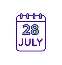 Calendar rgb color icon vector