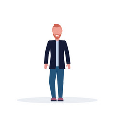 casual businessman standing pose happy stylish man vector image