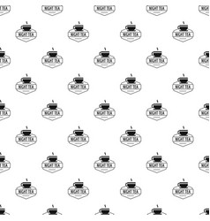 cup tea pattern seamless vector image