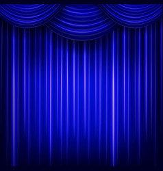 Curtain or drapes blue background vector