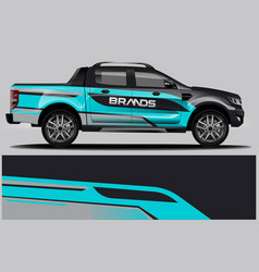 Double cabin truck wrap design wrap sticker and vector