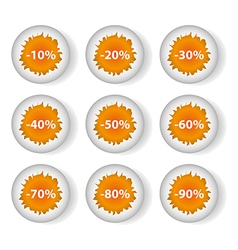 Eggs discounts vector