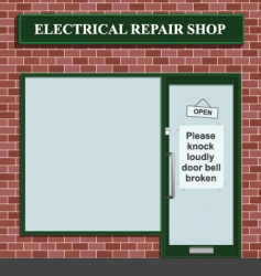 Electrical repair shop vector
