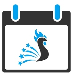 Festive Rooster Calendar Day Toolbar Icon vector