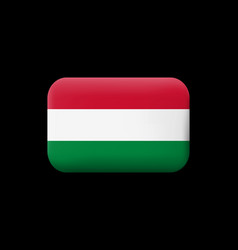 Flag of hungary matted icon and button vector