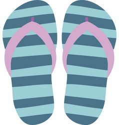 flip flops isolate on a white background slippers vector image