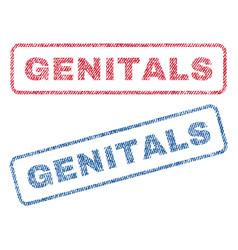 Genitals textile stamps vector