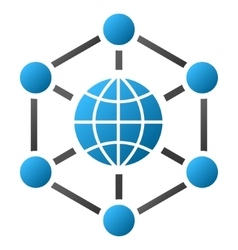 Global Web Nodes Gradient Icon vector