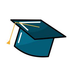Graduation cap tool to traditional ceremony vector