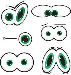green toon eyes vector image