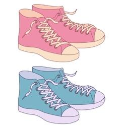 Gumshoes vintage colors vector