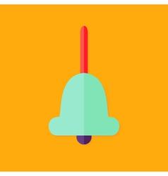 Handle bell christmas flat icon vector