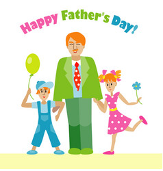 happy fathers day flyerdesign vector image