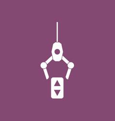 Icon crane lifts vector