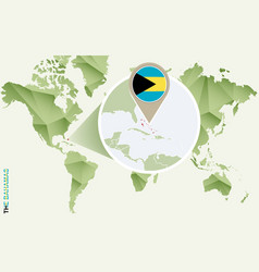 Infographic for bahamas detailed map the vector