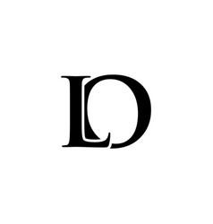 Initial lo alphabet logo design template vector