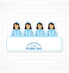 international nurse day stock image vector image