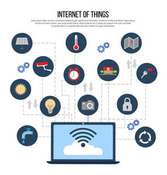 Internet things technology vector