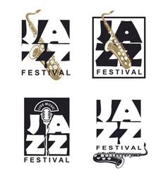 jazz festival poster set vector image
