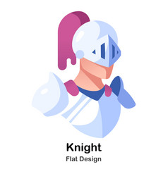 Knight flat icon vector