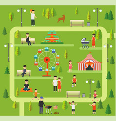 Leisure in nature in a public park vector