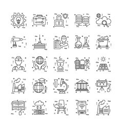 Line Icons With Detail 24 vector