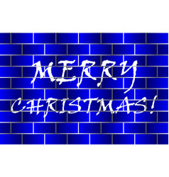 Merry christmas - white and blue vector