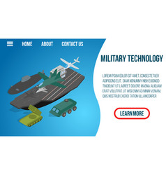 military technology concept banner isometric vector image