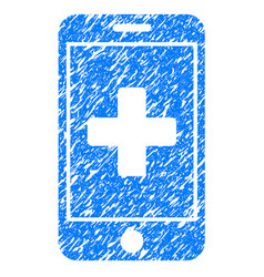 Mobile medicine grunge icon vector