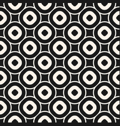 monochrome texture with circles rings vector image