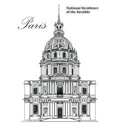 national residence of the invalids- hand drawing vector image