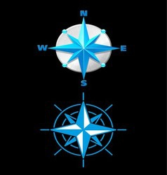Nautically Themed Compass vector image