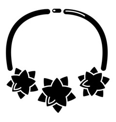 Necklace star icon simple style vector