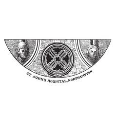 Northampton st johns hospital middle window is vector