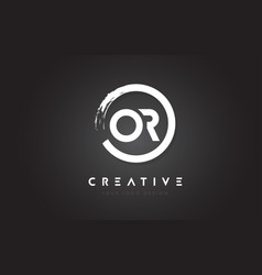 or circular letter logo with circle brush design vector image