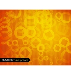 Orange geometric abstract background vector image