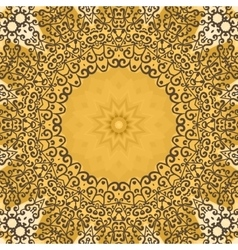 Oriental seamless pattern henna color print vector image
