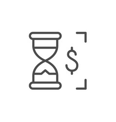 payout time line outline icon vector image