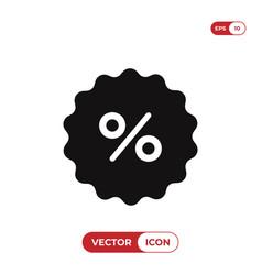 percentage icon vector image