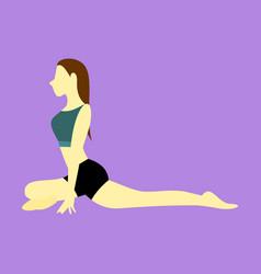 Pigeon pose yoga posture vector